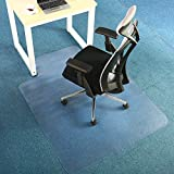 Office Premium Chair Mat Carpet Protection Mat, Clear, Rectangular Shaped (47 x 60 inches, Rectangular With Lip-No Rugged)