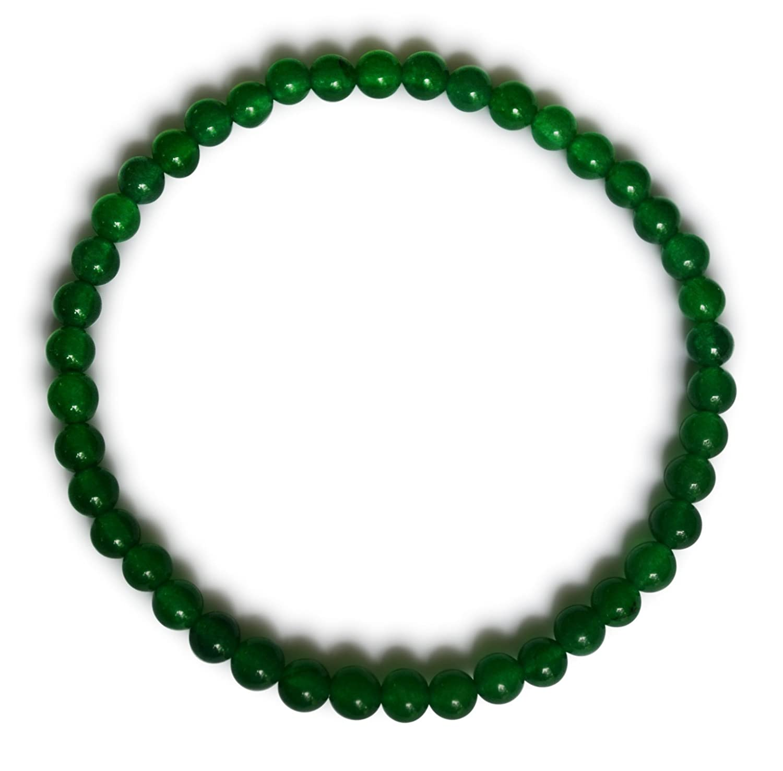 Jade pulsera jade malasia natural verde esférico mm