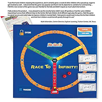 Math Games,Home & School Math Game for Kids 7-12,Math Board Game, Math Multiplication Games, Everyday Elementary Maths Games by BeGenio-Easy Fun Learning—Guaranteed Easy Addition+Subtraction Teaching: Industrial & Scientific