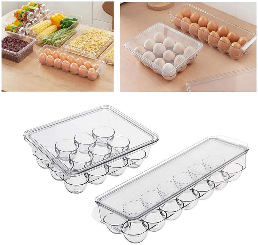 Details about  /Egg Storage Box Kitchen Refrigerator Fresh Kitchen With Lid Anti-Collision New