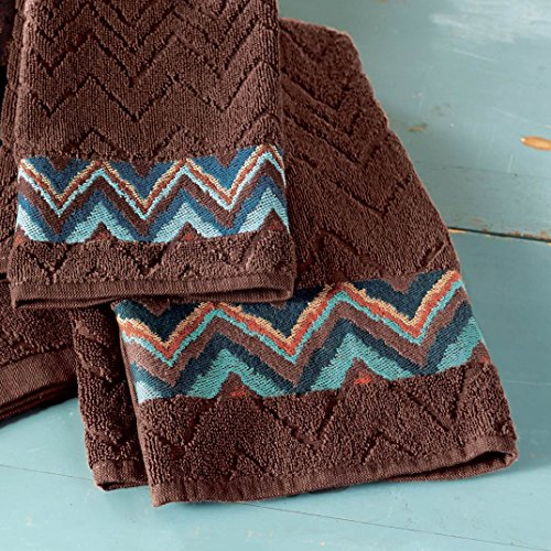 - BLACK FOREST DECOR Tribal Flamestitch Hand Towel
