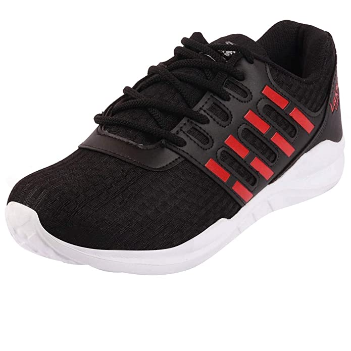 Black Red Running Shoes PACE Energy 610