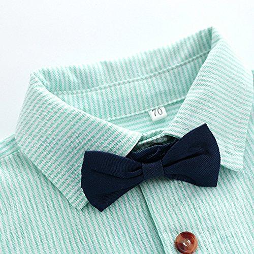Smartbear Baby Boys Gentleman Clothing Bowtie Blue Stripe Long Sleeve Button up Shirts