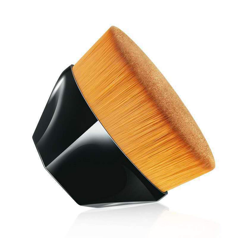 Falliny Foundation Makeup Brush, Flat Top Kabuki Travel Liquid Foundation Brush Perfect for Blending Liquid, Cream or Flawless Powder Cosmetics, Full Coverage Face & Body Makeup Brush