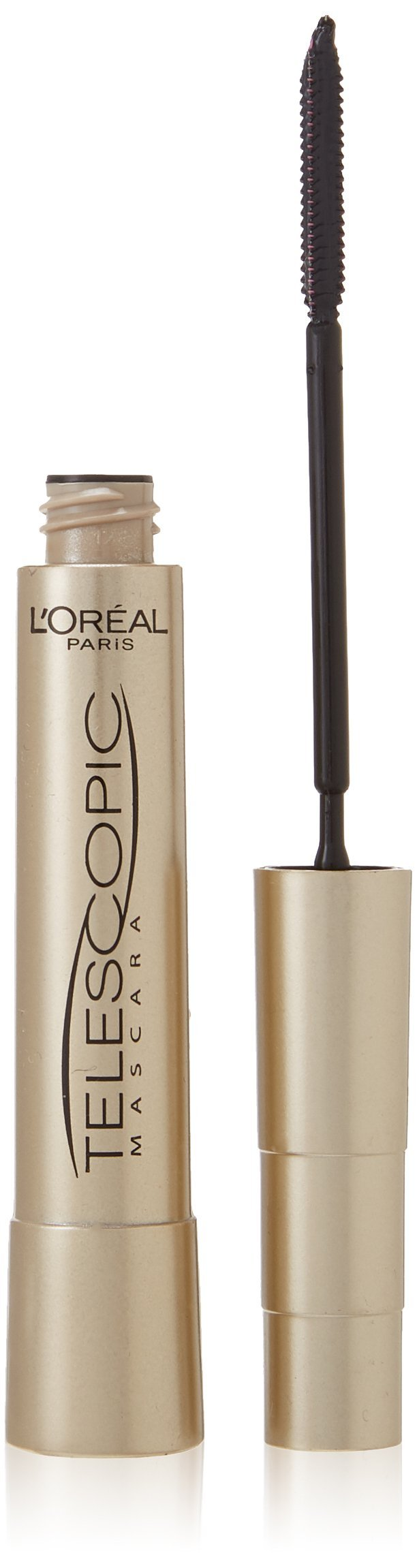 L'Oreal Paris Telescopic Mascara, Black [905] 0.27 oz (Pack of 2)