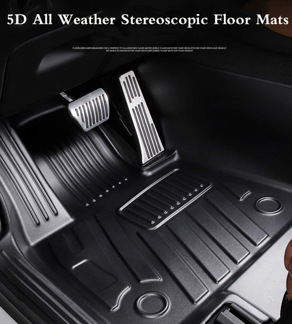 Hiyougen TPE Tapetes Conjunto de Tesla Model 3 5D Mejorada Completa de Punta Protecci/ón Estera del Piso Custom Fit All Weather Proteger Duradero Inodoro Alfombra Liner Set