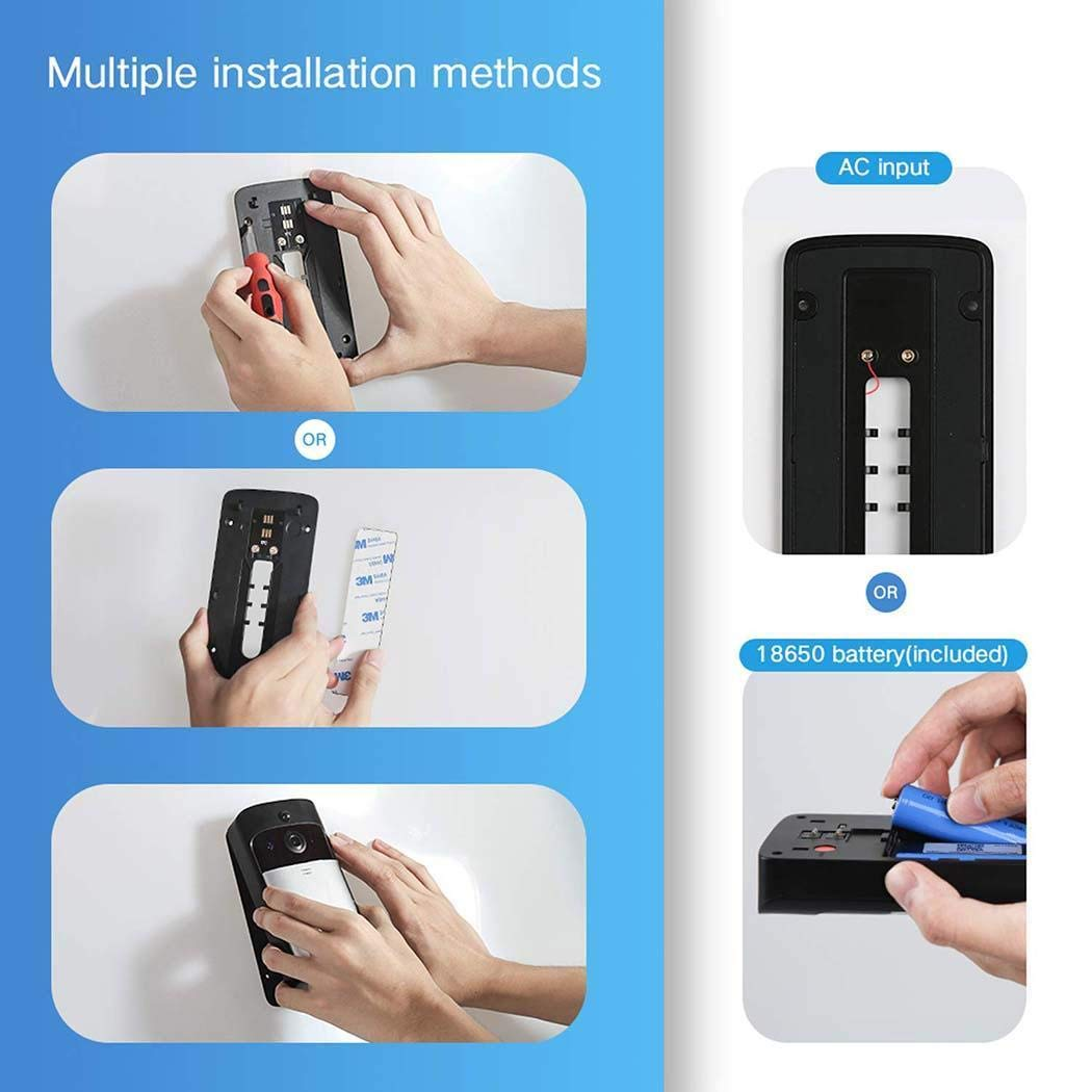 Mandii Video Wireless Doorbell WiFi HD Home Security Wide Angle Night Vision Doorbell Kits by Mandii (Image #7)
