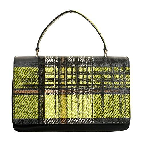 Prada Leather Multi-Color Women's Handbag Bag