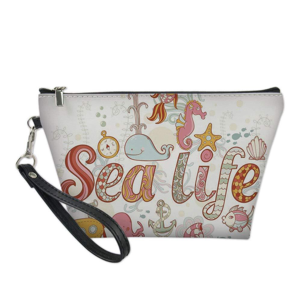 d50b1ad04c44 Amazon.com : Music Useful Cosmetic Bag, Symbolic Music Notes Joy ...