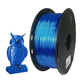 Amazon.com: Filamento PLA para impresora 3D, color azul ...