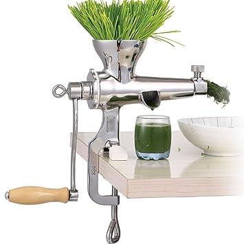 Exprimidor manual de mano de acero inoxidable jiqi para hierba de trigo, exprimidor de fruta, trigo y hierba de verdura, extractor de prensas de zumo ...