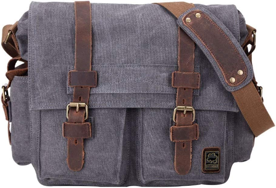 Mens Shoulder Messenger Canvas Bag Casual Waterproof and wear-Resistant Business Backpack electronic SLR Photography Digital Camera Bag