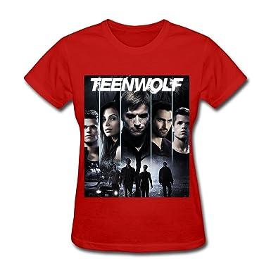521c3cf42 Amazon.com: LR Women's Teen Wolf Poster Season 3 Cotton T-Shirt Black:  Clothing