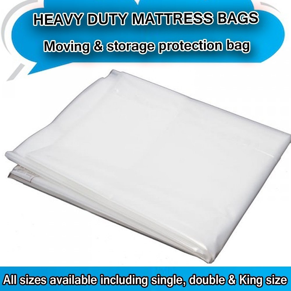 Kingsize 5ft Heavy Duty Removal Moving Mattress Polythene Cover Bag 400 Gauge Westen Deals