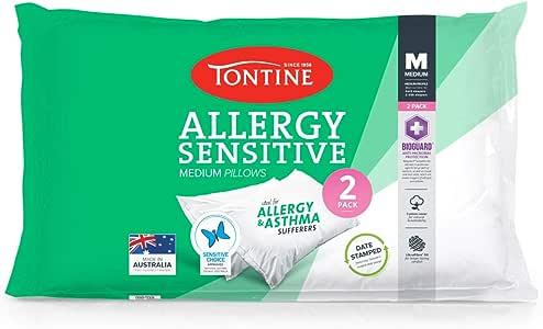Tontine T2891 Allergy Sensitive Pillow Duo Pack,Medium