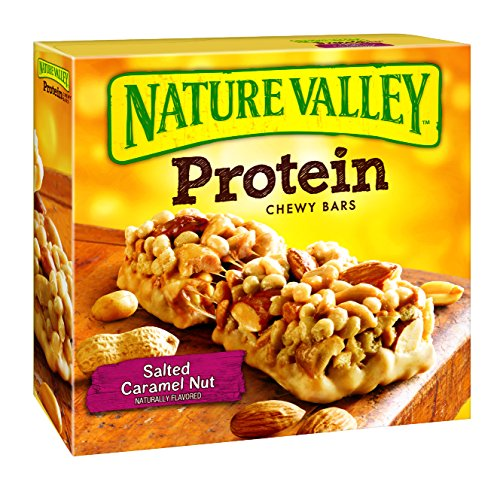 Nature Valley Protein Chewy Bar Gluten Free Salted Caramel Nut,1.42 Ounce Bars, 5 Count (Pack of 6) (Caramel Natural)