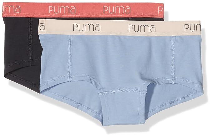 PUMA Women' Basic Mini Short Underwear, 2 Pairs, Womens