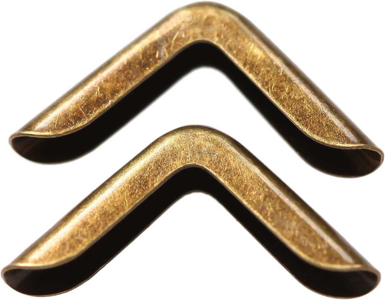 20 x Schutzecke platin Eckenschutz 30x43 mm für 6mm Materialdicke