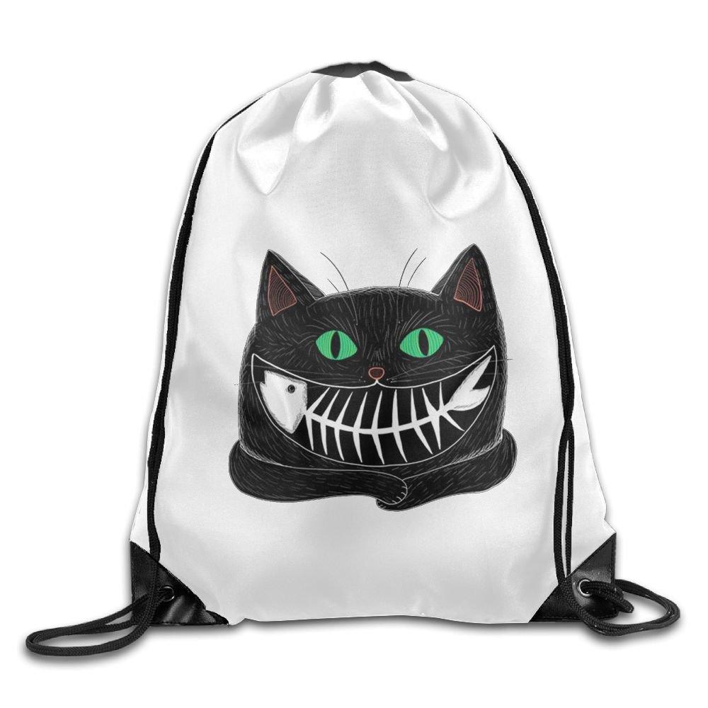 Cat Drawstring Backpack Rucksack Shoulder Bags Training Gym Sack For Man And Women