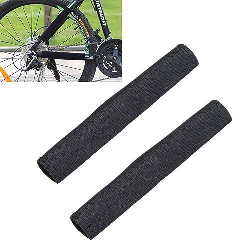 2 piezas MaxCrest™ negro cadena de la bici bicicleta cadena Protector marco Protector de cadena de bicicleta MTB posteó el cuidado guardia cubierta: Amazon.es: Deportes y aire libre
