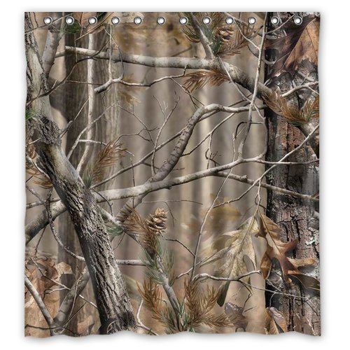 Camouflage Tree Forest 66(w)x72(h)Inch Bathroom Waterproof Shower Curtain Bath Curtain Qianqianlove Other case