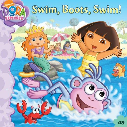 Swim, Boots, Swim! (Turtleback School & Library Binding Edition) (Dora the Explorer 8x8 (Pb))]()