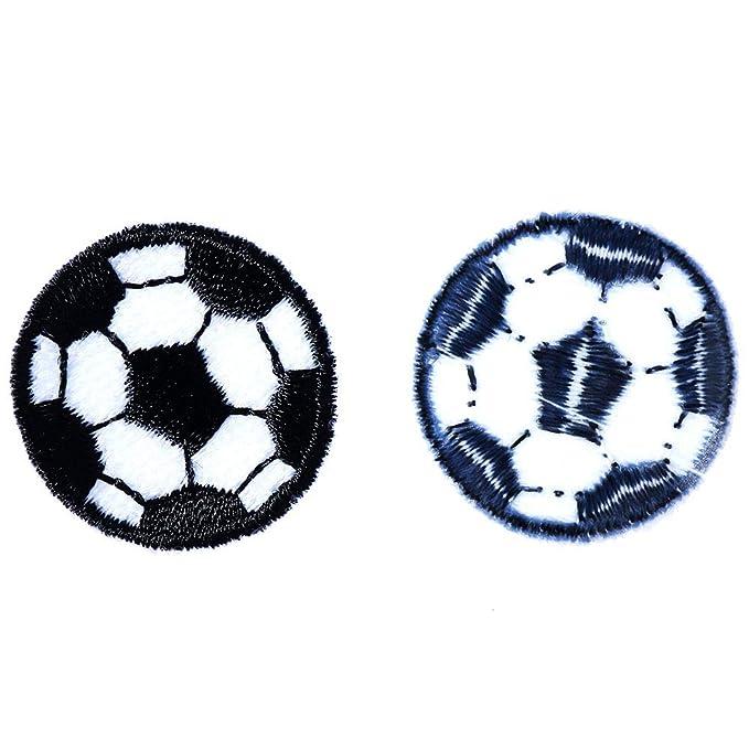10pcs del balón de fútbol Parches Blanco y Negro Fútbol Parches ...