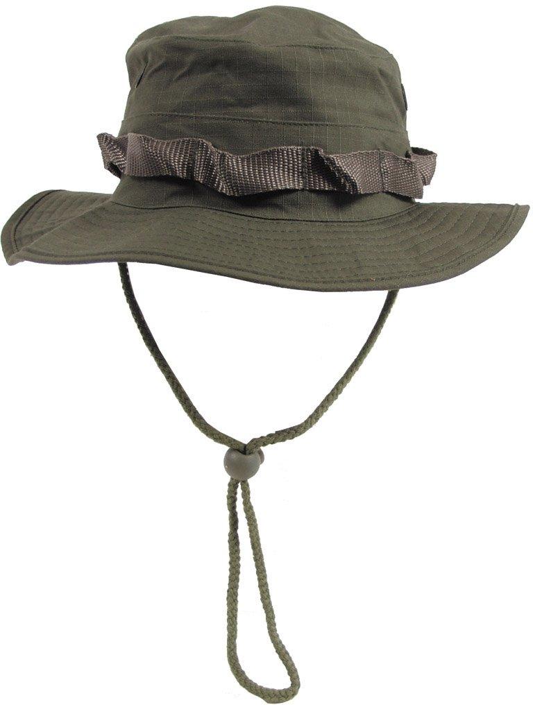 Max fuchs uS gI chapeau de brousse avec mentonnière, gI boonie, ripstop vert olive