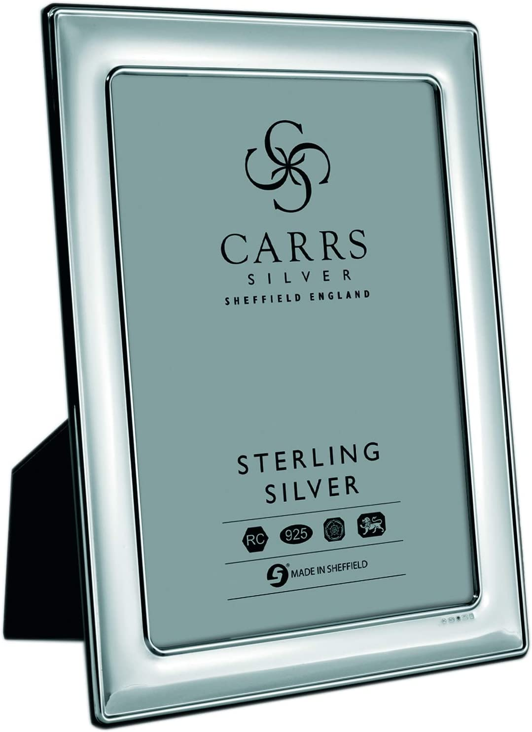 Carrs Silver Sterling Silver Plain Photograph Frame 10 X 8 With Wood Back Can Stand Portrait Or Landscape Amazon Co Uk Kitchen Home