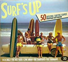 UK two CD set. SURF'S UP gathers 50 original recordings from the golden age of Surf music. Focusing on lost legends, rare classics and the wildest wipeouts ever. Featuring the Bel-Airs, the Marketts, the Tornadoes, the Frog Men, the Chantays ...