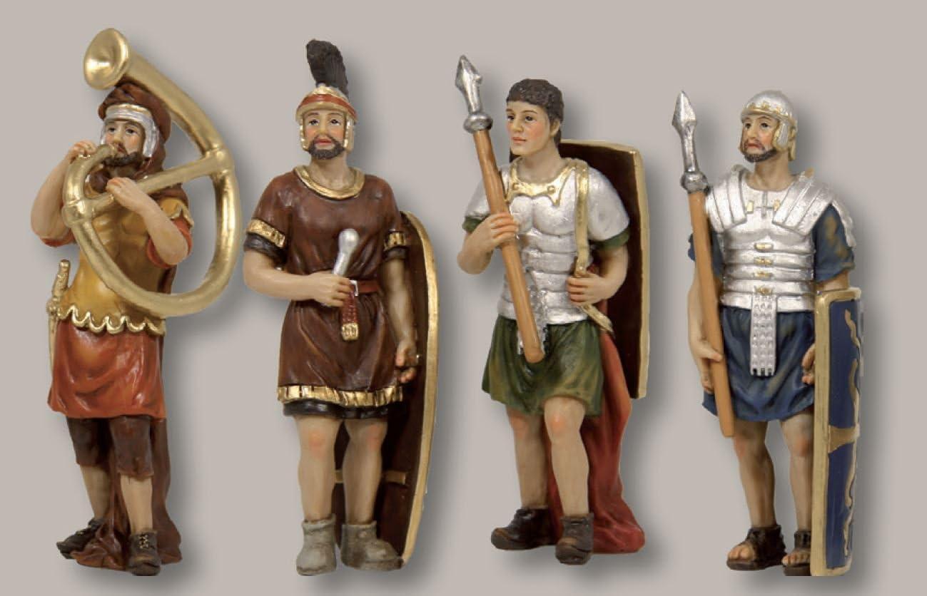 Passionsfiguren 4 Soldaten f/ür ca 5cm Figuren