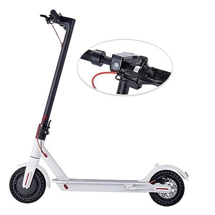 WINDEK Patinete eléctrico Plegable con Pantalla y LED indicador de luz 8.5 Pulgadas Velocidades de hasta 25km/h Ultraligero