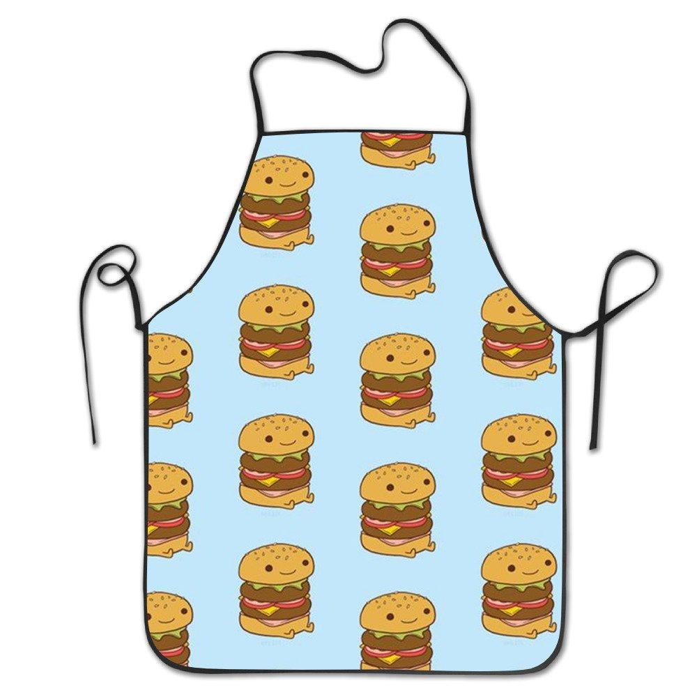 キュートHamburgers料理エプロンキッチンエプロンよだれかけエプロンChiefエプロンホームEasy Care forメンズレディース   B0753KMWYD