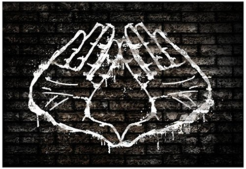 Illuminati Hand Sign Graffiti Poster, 19 x ()