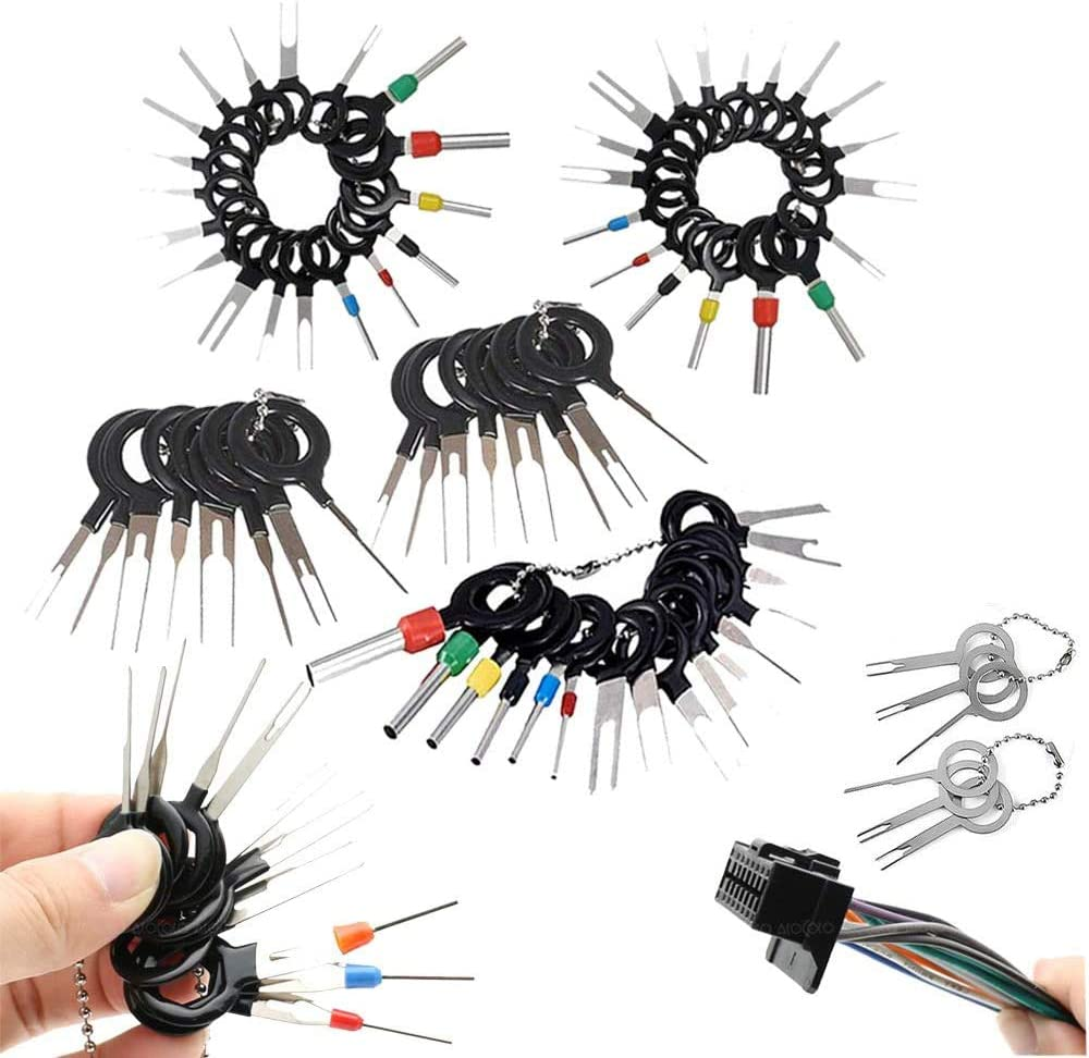 WOTOOYER 120 Pcs Terminal Ejector Kit,Auto Car Electrical Wiring Crimp Connector Pin Extractor Kit for Car Repair Durable Tool,Terminal Removal Connector