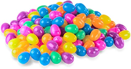 PLASTIC EASTER EGGS  24 ct  Assorted  Colors