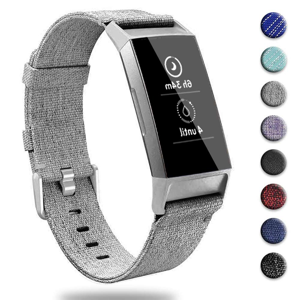 Malla Compatible Para Fitbit Charge 3, Gris