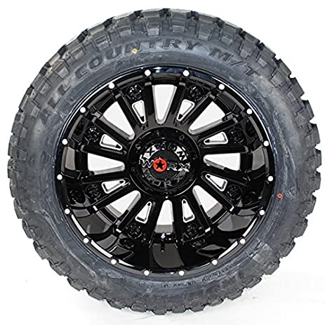 Amazon Com Wheel Tire Package 20x12 Worx 810bm Black Milled