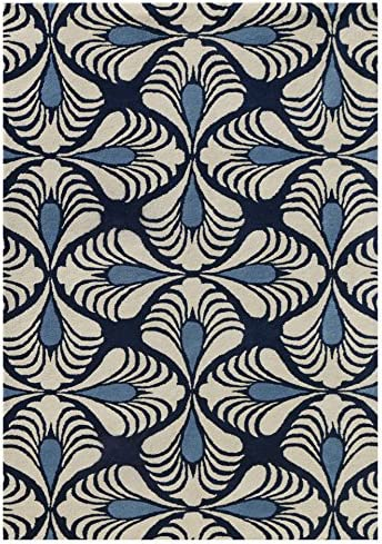 Amer Rugs Design Rug, 5 x 8 , Navy