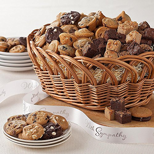 Shari's Berries - Large Mrs. Fields Classics with Sympathy Ribbon - 1 Count - Gourmet Baked Good Gifts