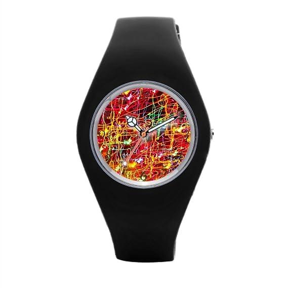 Neón Luz Vintage reloj de pulsera Mejores Relojes de muñeca para los hombres: Amazon.es: Relojes