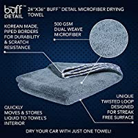 Premium Microfiber Vehicle Drying Towel 500 GSM Long Terry Microfibers For Fast Drying /& Easy Wringing Buff Detail Large 24 x 36 Microfiber Wholesale Soft Satin Piped Borders