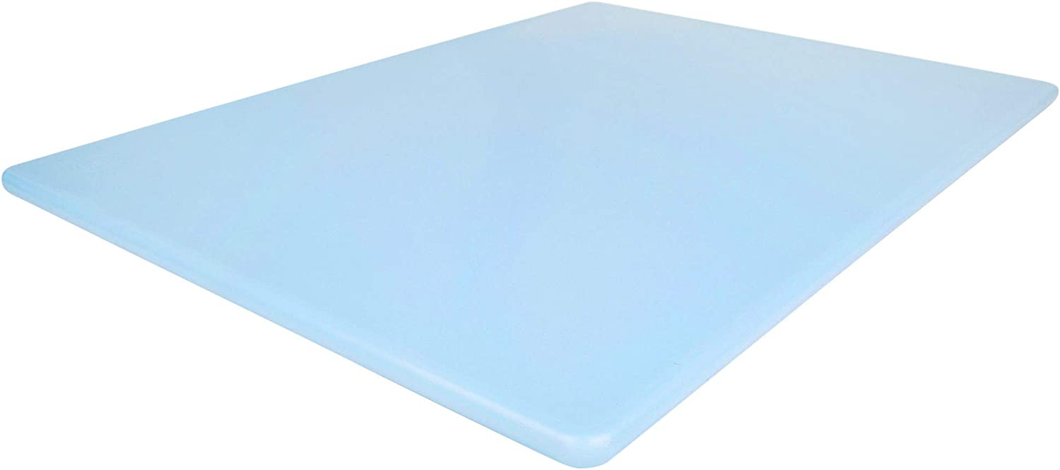 Commercial Blue Plastic Cutting Board, Large 20x15 Inch, Fish and Seafood NSF