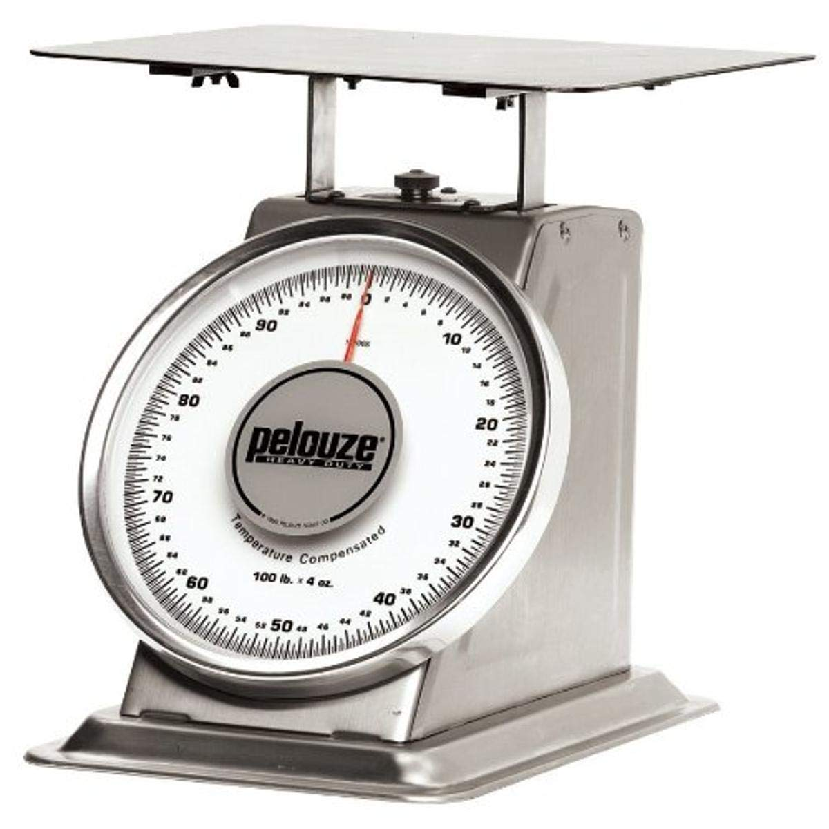 Rubbermaid Commercial Products FG10200S Pelouze Heavy-Duty Mechanical Platform Receiving Scale, Stainless Steel, 200 lb