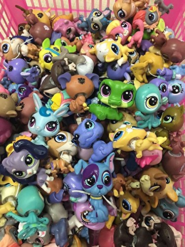(Original 20pcs Random Littlest pet shop Cat Dog Animal figure Collecion gift)