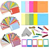 Xtech FujiFilm Instax Mini 9/8 Accessories kit f/ Fujifilm Instax Mini 9 Mini 8 Includes: Colorful Paper / Plastic Frames + Hanging Material + 60 Colorful Sticker Frames