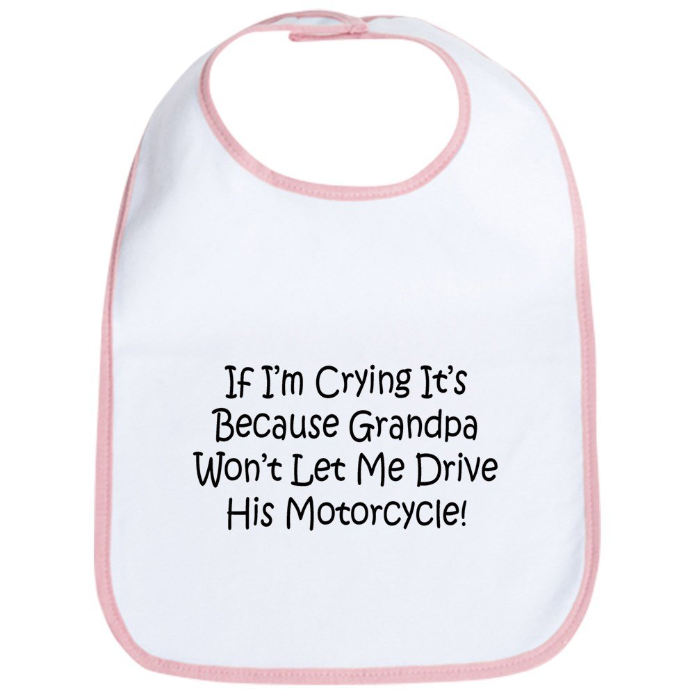 CafePress - Drive My Grandpas Motorcycle Bib - Cute Cloth Baby Bib, Toddler Bib