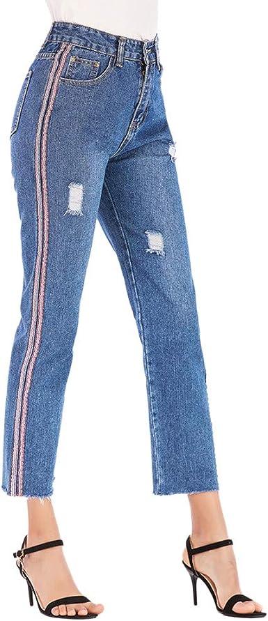 Vaqueros Para Mujer Cintura Alta Pantalones Mujer Verano Tallas Grandes Jeans Para Mujer Pantalones De Mezclillade Mujer Sexy Pantalones Push Up Mujer Moda Vaqueros Rectos Para Mujer Amazon Es Ropa Y Accesorios
