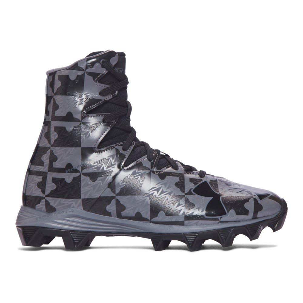 c79c2cfa799 Amazon.com  Under Armour Boys Highlight RM Jr. Football Cleats Black 3.5  Medium (D) Big Kid  Shoes