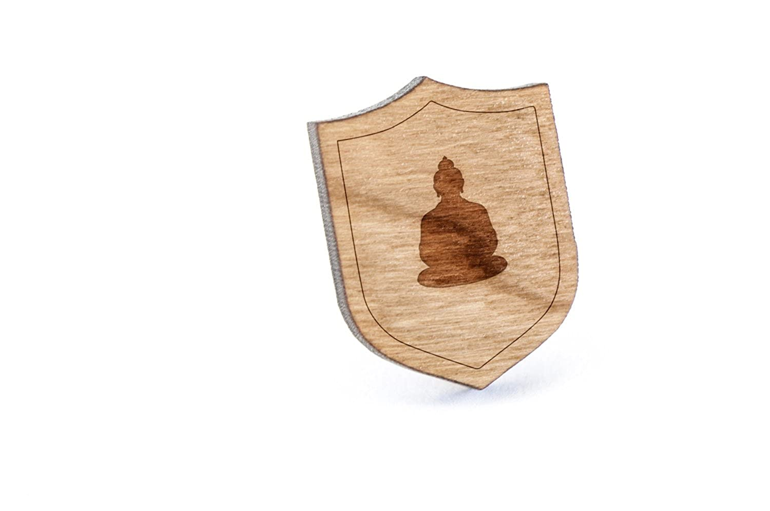 Buddha Lapel Pin, Wooden Pin Wooden Accessories Company buddha-pin
